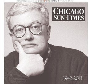 The Chicago Sun-Times' front page today in memory of Roger Ebert.